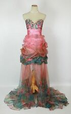 NWT Jovani Size 2 Ball Gown Long Cruise Prom Formal $500 Pink Dress High Low