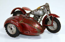 Rare Drukov Czechoslovakian # 1950's Tin Motorcycle with Sidecar !!