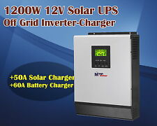 12v 1200w 230vac  Solar power inverter ups + solar charger 50A + 60a charger