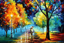 Huge Modern Handpainted Art Oil Painting Wall Decor canvas,Valentines(No Frame)