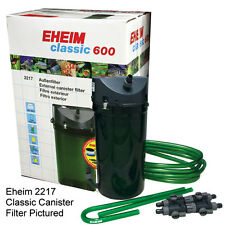EHEIM CLASSIC 600   2217  PLUS EXTERNAL POWER  FILTER + MEDIA