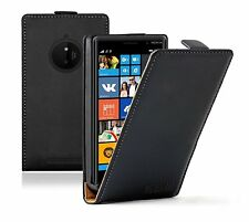 Ultra Slim BLACK Leather Flip Case Cover Pouch for Mobile Phone Nokia Lumia 830