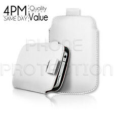 LEATHER PULL TAB SKIN CASE COVER POUCH FITS VARIOUS SONY ERICSSON  MOBILES