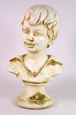 Vintage 1962 Universal Statuary Corp. Chicago Figurine Bust Boy