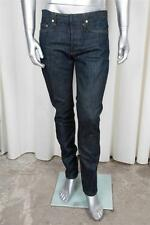 CHRISTIAN DIOR Mens Classic Casual Dark Blue Cotton Denim Straight-Leg Jeans 32