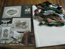 """Stony Creek Collection Cross Stitch Kit """"Railroad Station"""" The Scenic Route"""