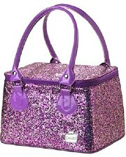 Caboodles Sassy Tapered Tote, Chunky Glitter, Makeup Cosmetic Travel Bag Box