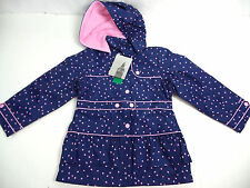 London Fog Girl's Rain-jacket Peacoat Purple Hearts US Size 6X NWT