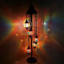 Hecho a mano de Cristal Turco Marroquí Estilo Tiffany Lámpara De Pie Lámpara Luz de noche