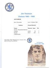JIM THOMSON CHELSEA 1965-1968 ORIGINAL HAND SIGNED PICTURE CUTTING