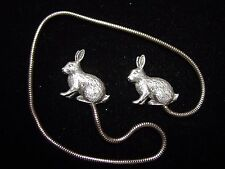 Silver Pewter RABBIT Bookmark~Peter Rabbit & Friend