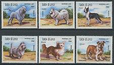 LAOS N°424/429** Chiens de race TB, 1982 dogs set MNH