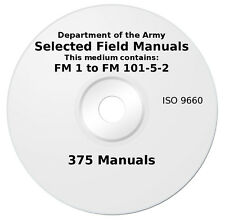 375 U.S. Army Field Manuals in PDF on DVD: Includes Survival and Sniper manuals!