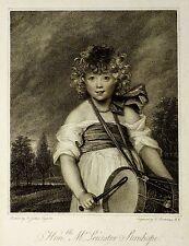 LEICESTER STANHOPE - Bartolozzi - Nach Reynolds - Punktstich 1789