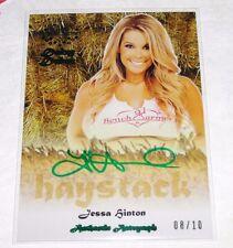 2015 Benchwarmer JESSA HINTON Daizy Dukez #27 HAYSTACK Green Auto/10 PLAYBOY Hot