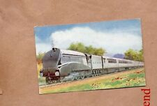L.N.E.R. A4 Pacific Locomotive 2509 Silver link 1935 Salmon card posted 1998. b2