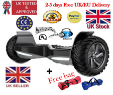 """Smart Electric Hoverboard 9"""" Bluetooth+Music 2 wheel Off-Road,free bag,rrp£700"""