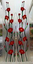 Poppy Ventana Puerta se aferran calcomanía Vitral efecto película flexible Decoración