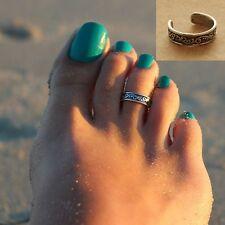 Celebrity Fashion Beach Retro Silver Toe Ring Adjustable Foot Beach Jewelry Gift