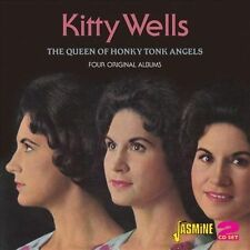 The Queen of Honkey Tonk Angels: Four Complete Albums by Kitty Wells (CD,...
