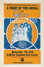 QUEEN - HIGH QUALITY EARLY VINTAGE 1976 CONCERT POSTER-LOOKS GREAT FRAMED