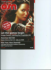 HUNGER GAMES *JENNIFER LAWRENCE* OSN CABLE TV GUIDE DUBAI *NEW JAN. 2014* RARE