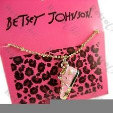 BETSEY JOHNSON vintage 3D TRAINER shoe CHARM NECKLACE pink/gold BJ RETRO pendant