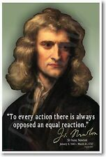Sir Issac Newton - To Every Action.. NEW Classroom School Science Physics POSTER