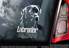 Black Labrador - Car Window Sticker - Lab Retriever Sign Print n.Chocolate -TYP7