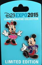 DISNEY PIN D23 EXPO MICKEY MINNIE MOUSE 60TH DIAMOND ANNIVERSARY COSTUME 2 PINS