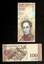 VENEZUELA  IN S. AMERICA, 1 NOTE OF 100 BOLIVARES , 2015, P-93, UNC FROM BUNDLE