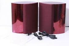 Beautiful Pair Bang & Olufsen Beolab 4000 Powered Speakers (Red)