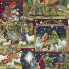 CHRISTMAS NATIVITY SCENIC FABRIC