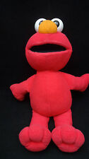 "Elmo Red White Sesame Street Fisher Price Plastic Eyes Soft Plush 12"" Toy 2002"