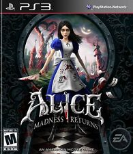 Alice: Madness Returns (Sony Playstation 3, 2011) New