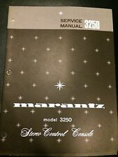 Original Marantz Model 3250 Stereo Control Console Service Manual