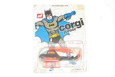 Vintage 1976 mettoy corgi juniors nº 78 batman batcopter moc non perforé