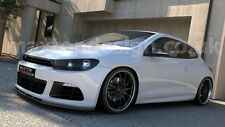 FRONT SPLITTER  (GLOSS BLACK) FOR VW SCIROCCO R (2008-2014)