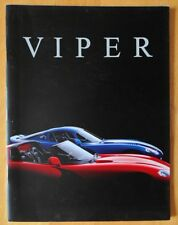 DODGE VIPER RT/10 & GTS Coupe prestige deluxe brochure with card covers - 1997