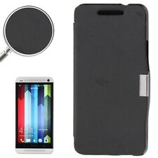 COVER CUSTODIA FLIP CASE SOTTILE SLIM PER HTC ONE M7 801N SOTTILE NERO LIBRO