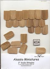 Fashion Dollhouse Fishscale Roofing Shingles 378pcs. Cedar #42A 1/8 scale USA