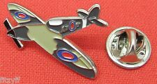 WWII Spitfire Aeroplane Aircraft Lapel Pin Badge World War 2 Air Force Plane