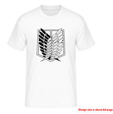Attack On Titan -The Survey Corps Logo  Anime T-Shirt free ukdelivery LARGE
