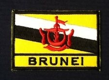 BRUNEI DARUSSALAM NATIONAL FLAG BADGE IRON SEW ON PATCH BACKPACKER