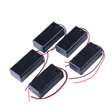 5PCS 9V Battery Holder Box Case with Wire Lead ON/OFF Switch Cover New