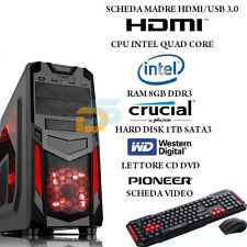 PC DESKTOP INTEL QUAD CORE GAMING 8 GB RAM/HD 1000 GB /VIDEO 1 GB USB 3.0 HDMI