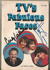CINDY WILLIAMS HAL LINDEN RON PALILLO GABE KAPLIN MULTI SIGNED TV'S FAB BOOK COA
