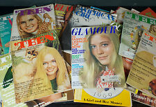 Large Vtg Collection Lot 1960s Ingenue, Teen, Glamour, American Girl Magazines