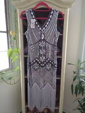 Beautiful flapper dress beaded sequins NWT size small