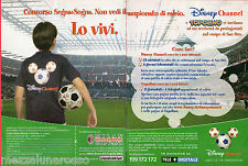 Pubblicità Advertising DISNEY CHANNEL 2002